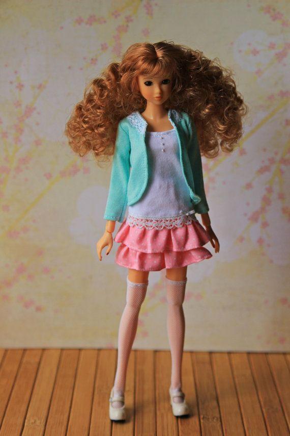 Vestito per bambola di momoko, fits Unoa Quluts luce. Include: - - ponticello - calze - gonna altri elementi non sono inclusi.  Colore reale