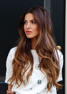 Hair color - warm brown with golden warm highlights
