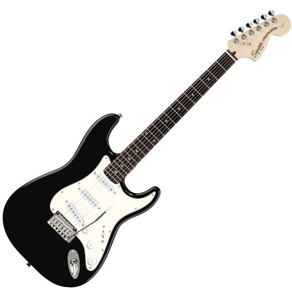 Fender Squier Standard Stratocaster Electric Guitar Rosewood... ❤ liked on Polyvore featuring accessories