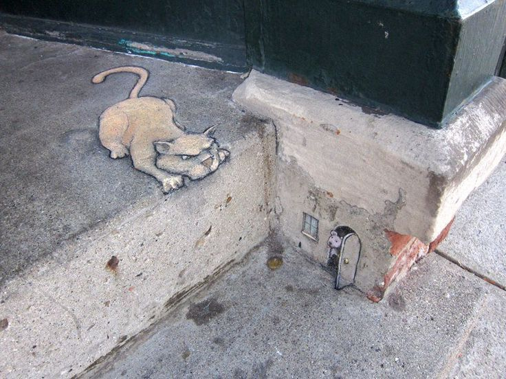 well now this is my sort of 3D painting | Chalk Art by David Zinn 26