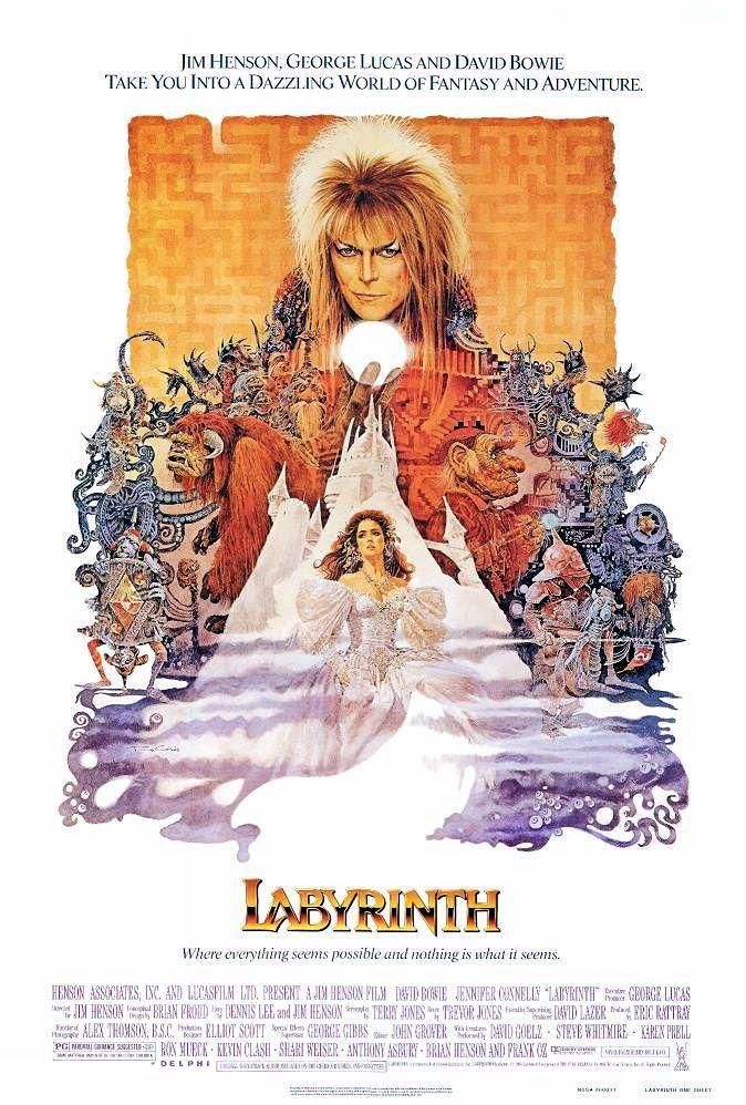 My favorite movie of all time! The Labyrinth starring David Bowie and Jennifer Connelly.