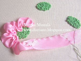 Suzana Mustafa: RIBBON EMBROIDERY - ROSE BLOSSOM4