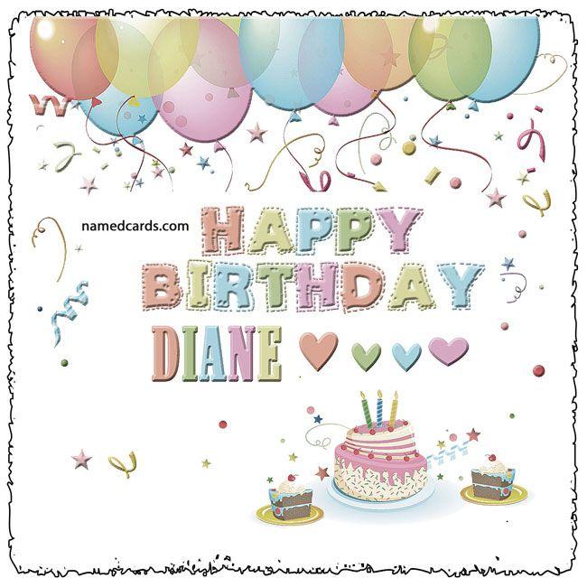 Happy Birthday Diane Card For Facebook