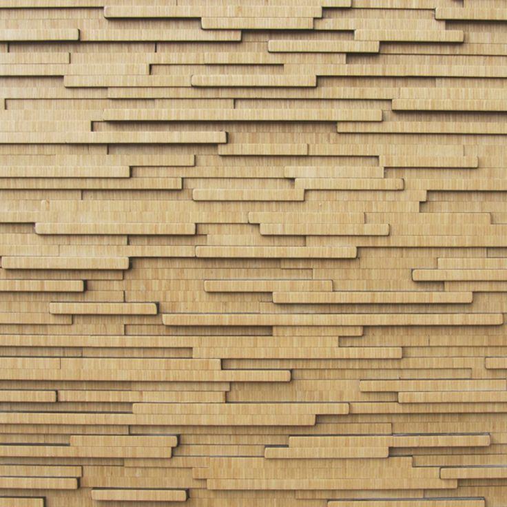 PL8-001 OAK (WOOD VENEER) [Panneau mural en mosaïques de bois]