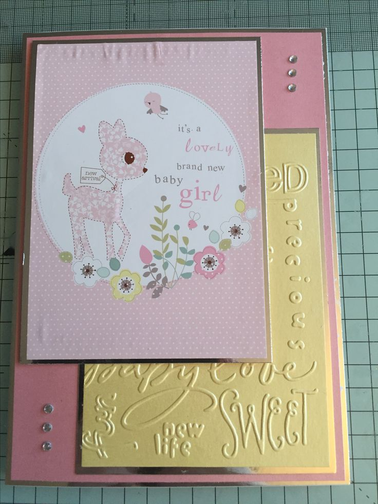 A new baby card using a Hunkydory little book of babies page and Hunkydory cardstock