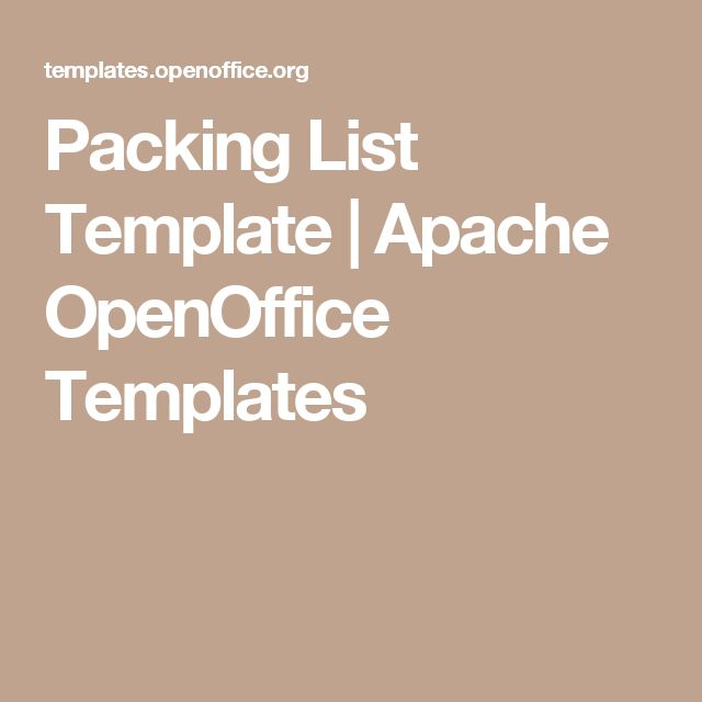 Packing List Template  Apache Openoffice Templates  Official