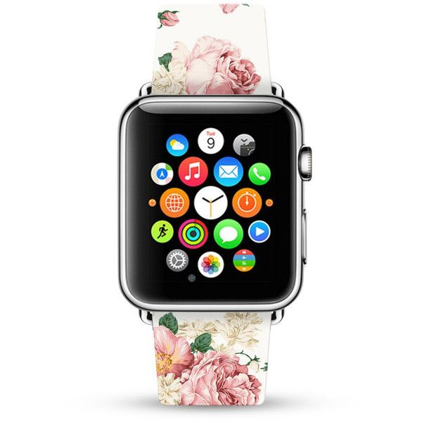 Apple Watch Band 38mm women, Apple Watch band 42mm for 1 2, Apple... ($33) ❤ liked on Polyvore featuring jewelry, watches, pink jewelry, rose jewellery, floral jewellery, pink wrist watch and rose jewelry