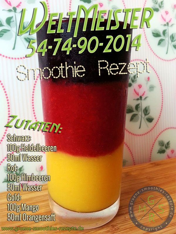 Weltmeister Smoothie 2014