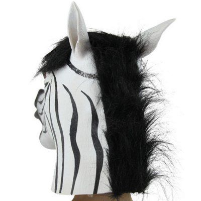 Creative Zebra Head Mask Halloween Cosplay Prop #men, #hats, #watches, #belts, #fashion, #style