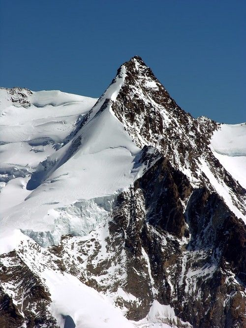 Dufourspitze (4634 m) also called Monte Rosa, Canton of Wallis. Switzerland's highest peak !