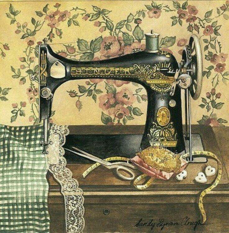картинки швейной машинки для декупажа цветовые решения для