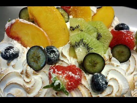 Torta estiva con meringa all'italiana