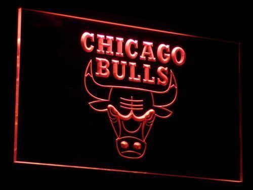 Chicago Bulls Sign Led Signs Neon Signs Home Man Cave Decor B004-R
