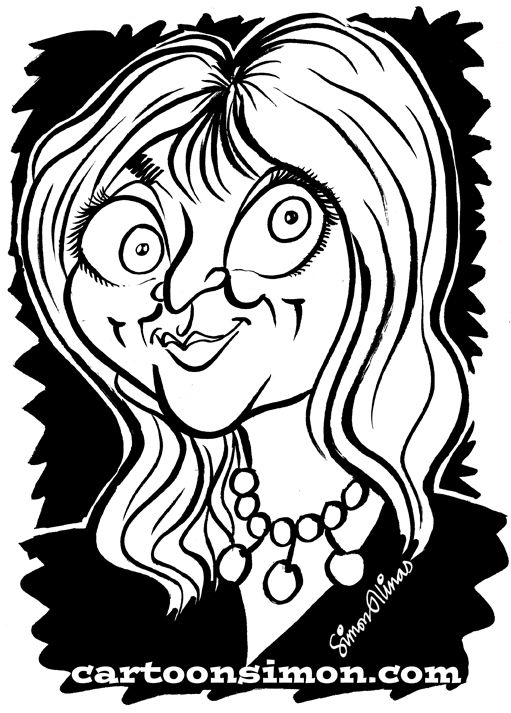 THIS CARICATURE of Helen Lederer, the comedian, actor and writer was produced and sent to her on Twitter where we had been having a conversation sparked off by a previous caricature of Caitlin Moran @Caitlin O'Donnell.