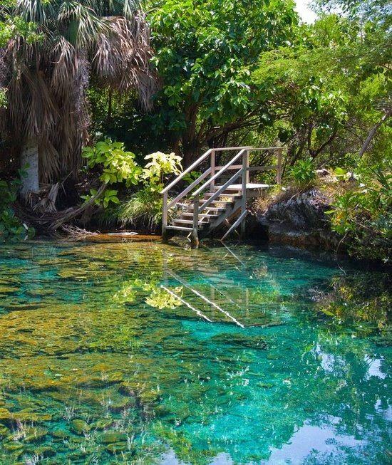 The Blue Lagoon near Punta, Cana, Dominican Republic
