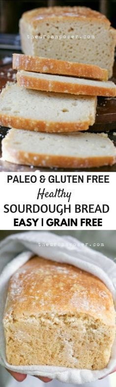 Best Paleo Sourdough loaf. Best Grain free bread recipes! Paleo french bread. Easy to make sandwich bread. Delicious healthy bread recipes for all your cravings!