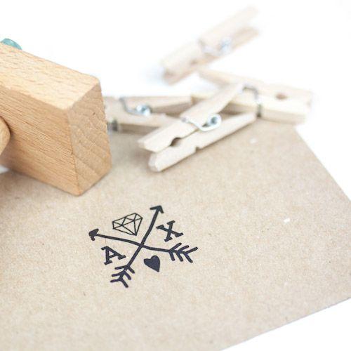 SELLO BODA A & X #sello #stamp #wedding #boda
