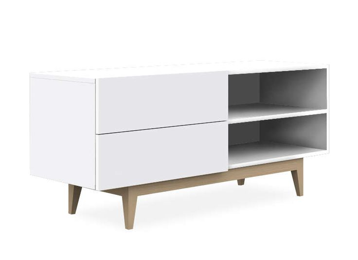 Copenhague meuble tv scandinave blanc gc pinterest for Achatdesign meuble tv