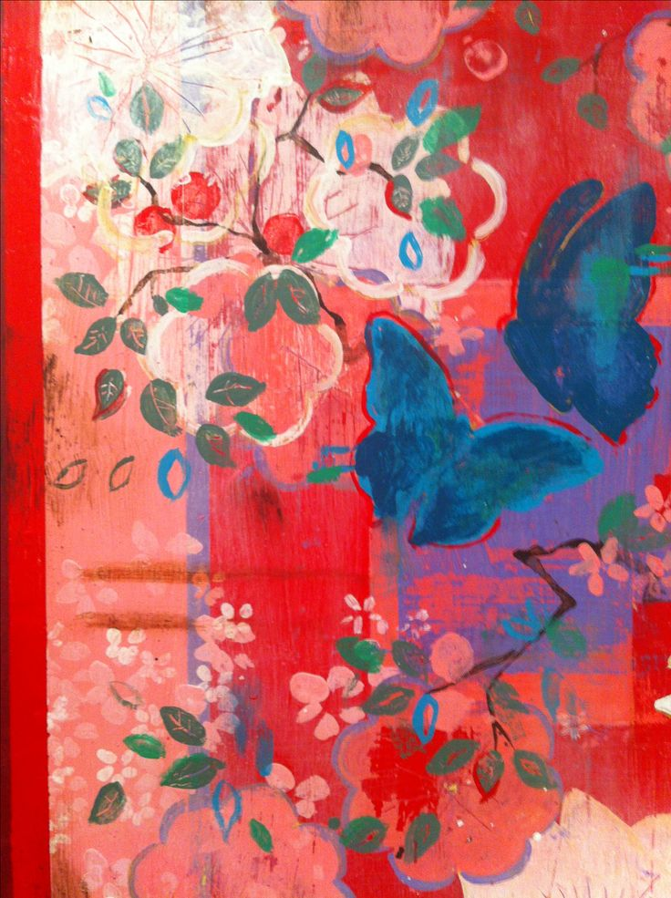 butterfly paintings for The Butterfly Show, opening July, at Kathe Fraga, 2014 . Inspired by vintage Paris and chinoiserie ancienne.