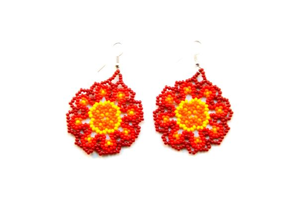 Huichol Beadwork Earrings