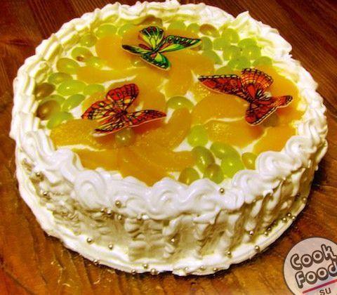 Торт «Молочная девочка» со сметанным кремом