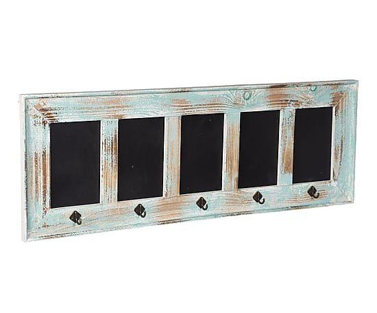 Perchero/pizarra enmarcada en madera - 89x32 cm