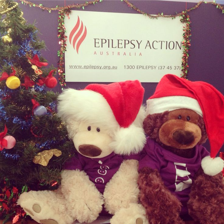 Elly and Elliot are ready for Christmas!! Epilepsy Action Australia 1300 37 45 37