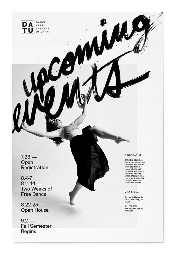 upcoming events poster for dance arts theatre utah - Poster Designs Ideas