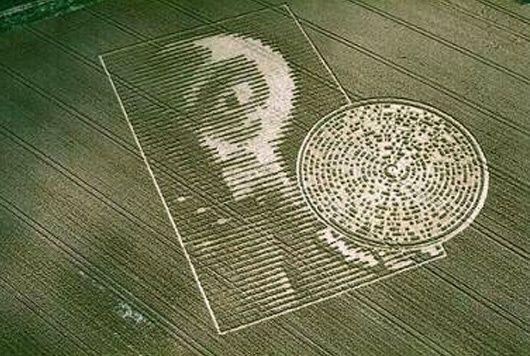 Mensaje del circulo de la cosecha del alien descifrado