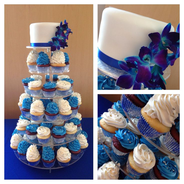 royal blue wedding cake and cupcakes 43 best images about wedding cakes on wedding 19369