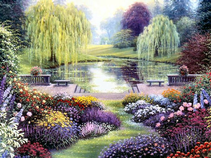 Terrace garden suite by charles h white art charming for Terrace garden meaning