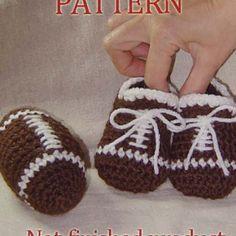 Crochet Football cleats & amigurumi football