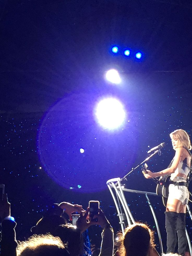 Captured this photo of Taylor Swift at her 1989 concert world tour.