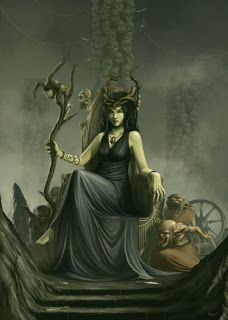 Unseelie Court, Night or Dark Fae, are lead by Queen Maeve or Mab and the Erlking. Their symbol is the seven-pointed star,