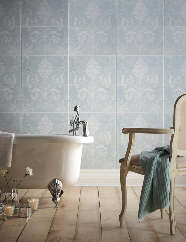 Bathroom Wall Tiles Look Amazing In Duck Egg From Laura Ashley.
