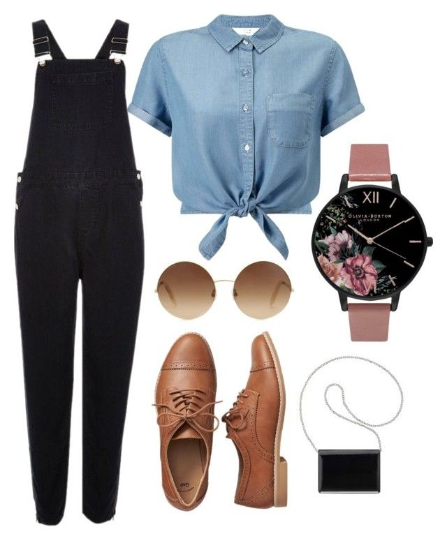 """Classy Overalls"" by marshay-horne on Polyvore featuring polyvore fashion style Miss Selfridge River Island Gap Nine West Olivia Burton Victoria Beckham clothing"