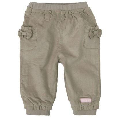 BORNINO RABBIT & DOG Cord-Hose mit süßen Schleifchen an den Taschen in den Größen 50/56 bis 74/80.