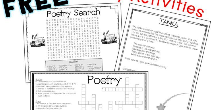 Free Poetry Activities | Poetry activities, Classroom ...