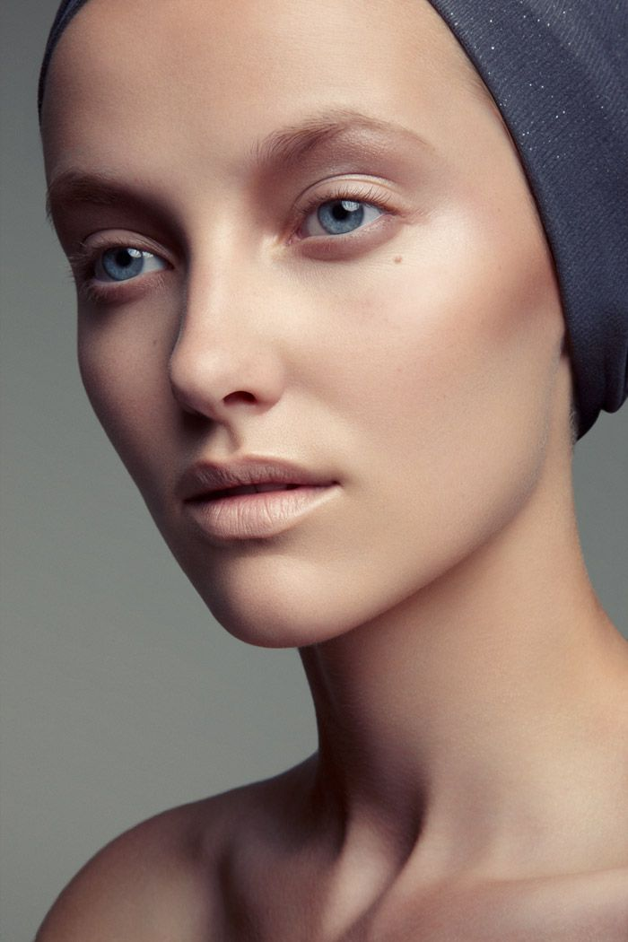 """Gorgeous """"nude"""" makeup application. Emily Van Raay Poses in Beauty Snaps by Jeff Tse <3"""