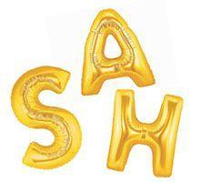 Balão Metalizado Letras Douradas - 14 polegadas