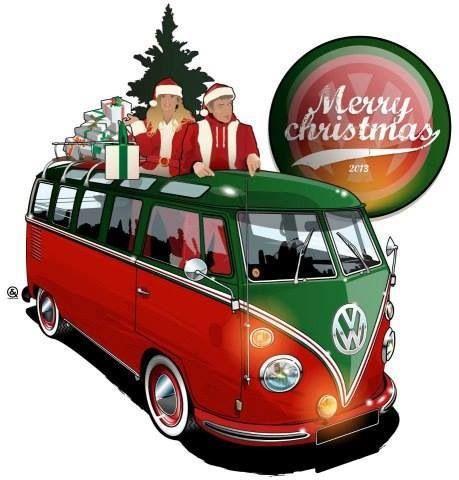 merry christmas vw van trucks vans volkswagen bus vw bus vw camper
