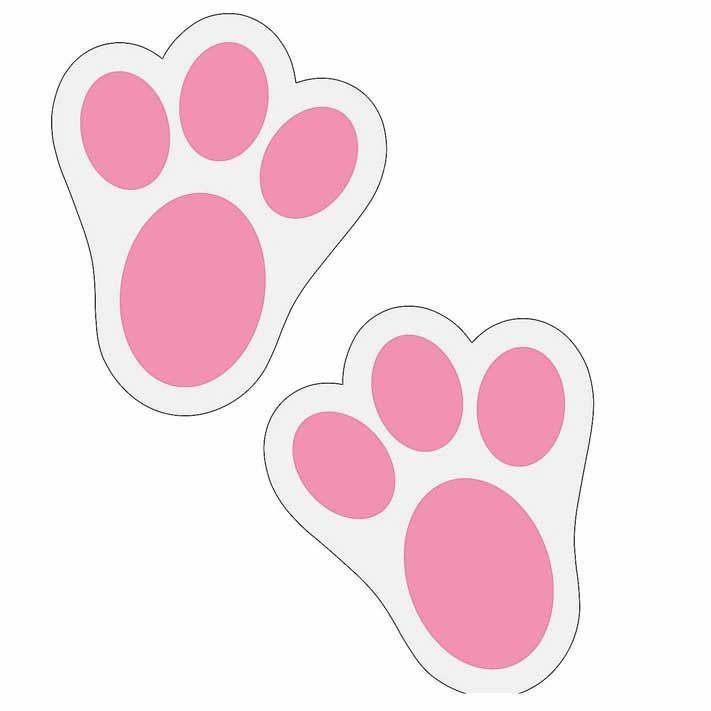rabbit bunny paw prints
