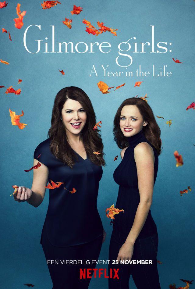 Netflix heeft dé posters voor Gilmore Girls onthuld én een eerste foto van Jess anno 2016