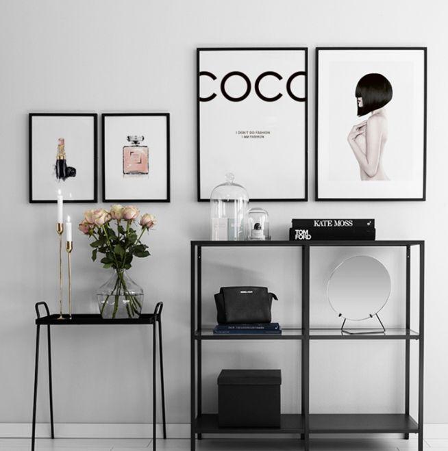 Snygga fashion prints, snygga till modern inredning.