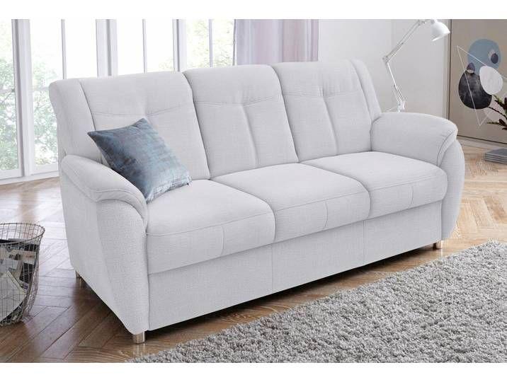 Sit More 3er Sofa Silber Komfortabler Federkern Hoher Sitzkomfort Sofa Love Seat Furniture