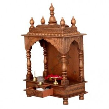 Buy Mukunda #Home #Temple in Brown Colour Online at Wooden Street. Browse our attractive collection of #living #room #cabinets Online at reasonable prices. Visit : https://www.woodenstreet.com/living-cabinets in #Pune #Secunderabad #Surat #Thane #Vadodara