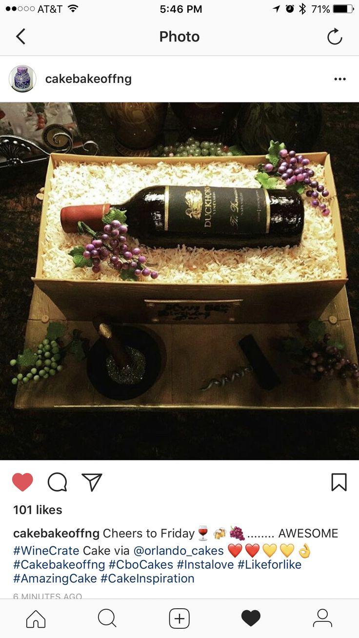 Wine bottle cake.  All edible