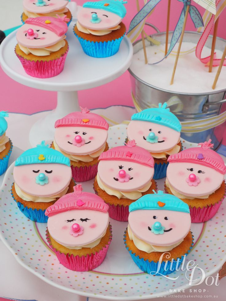 Baby Shower Cupcakes - made with love by Little Dot Bake Shop