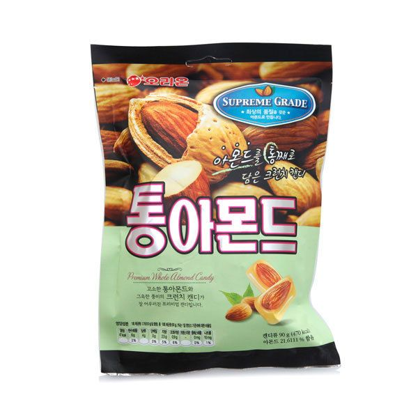 Butter-flavored crunchy candies with supreme grade whole almonds. This candy is made to be crunched. You can't resist it even if you try.