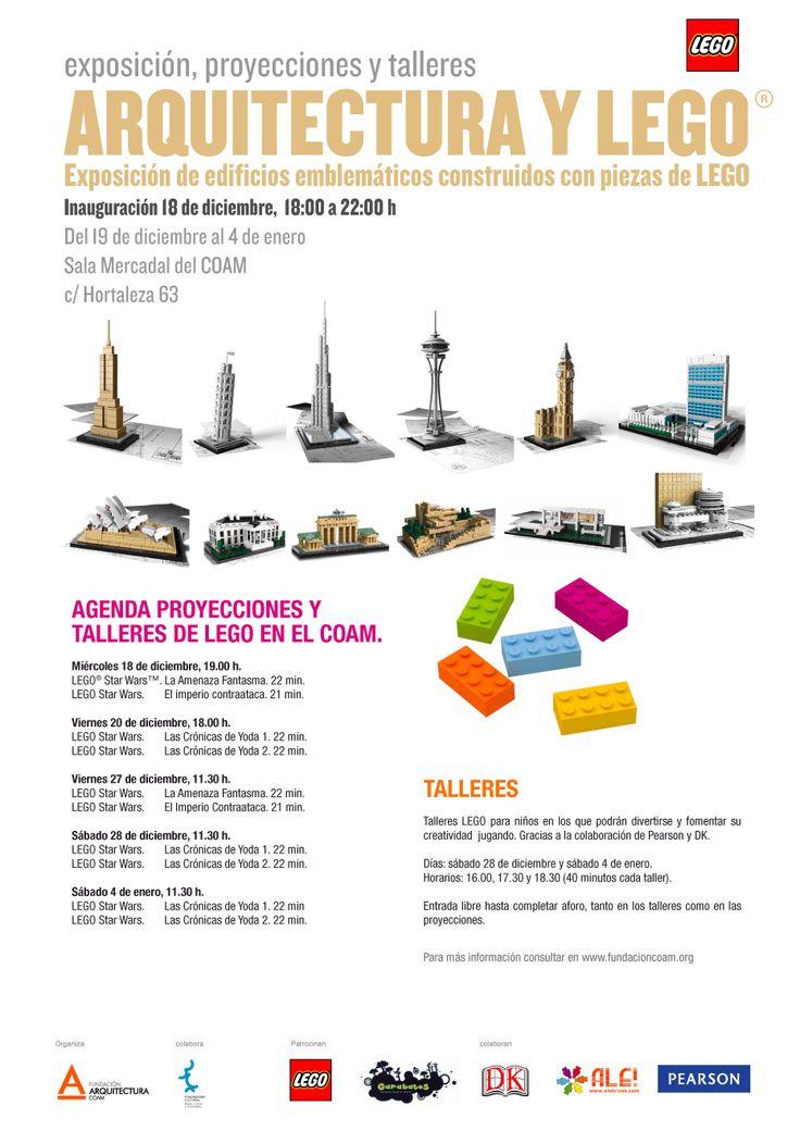 Exposición de Arquitectura y LEGO en Madrid. Con talleres infantiles y cine LEGO Star Wars, todo gratis. Un plan perfecto para estas Navidades 2013!!